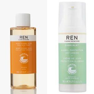 NEW Ren Day Cream & Daily AHA tonic